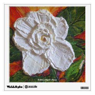 White Begonia Floral Wall Decal