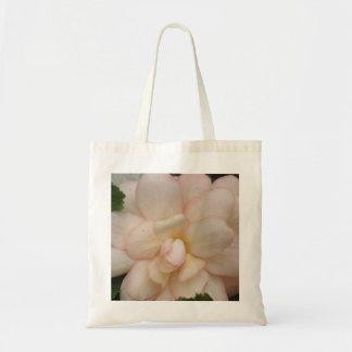 White Begonia Flower Tote Bag