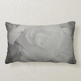 White Begonia Pillow
