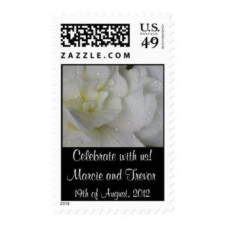 White Begonia Wedding Stamp