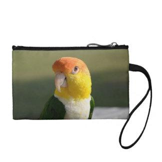 White Bellied Caique Parrot Change Purses