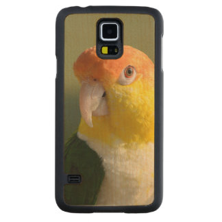 White Bellied Caique Parrot Carved® Maple Galaxy S5 Slim Case