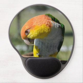 White Bellied Caique Parrot Gel Mouse Pad