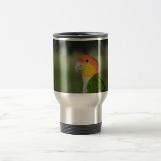 White Bellied Caique Parrot Outdoors 15 Oz Stainless Steel Travel Mug