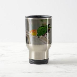 White Bellied Caique Parrot Travel Mug