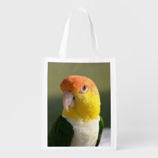 White Bellied Caique Parrot Grocery Bag