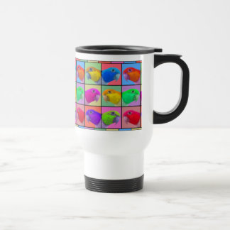 White Bellied Caique Pop Art Travel Mug