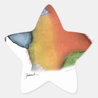 white bellied caique, tony fernandes star sticker