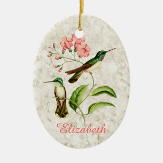 White Bellied Hummingbirds Ornament