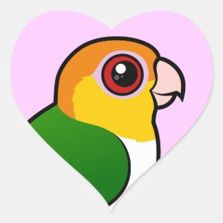 White-bellied Parrot Heart Sticker