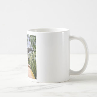 White-bellied Stork on jar Coffee Mug
