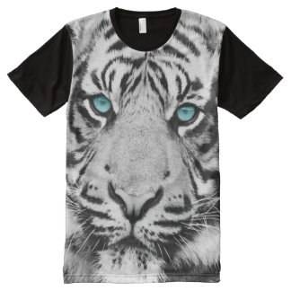 White Bengal All-Over Print T-shirt