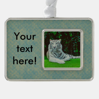 White bengal tiger christmas ornament