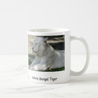 White Bengal Tiger Coffee Mug