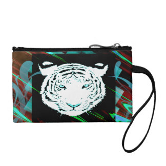 White Bengal Tiger Coin Purse