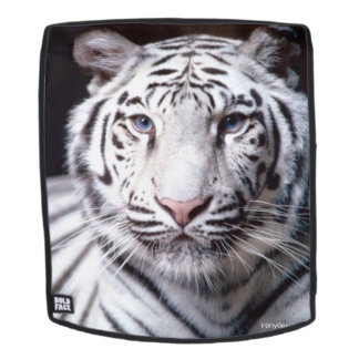 White Bengal Tiger Image Backpack