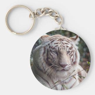 White Bengal Tiger Key Chain