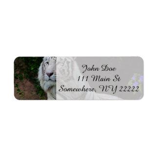 White Bengal Tiger Label