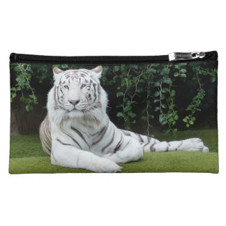 white bengal tiger makeup bag