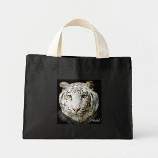 White Bengal Tiger Mini Tote Bag
