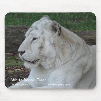 White Bengal Tiger Mousepad