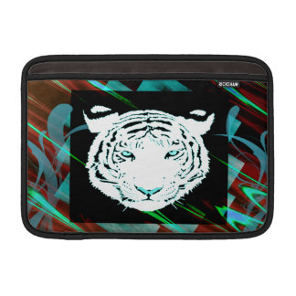 White Bengal Tiger On A Southwest Style Background MacBook Sleeve