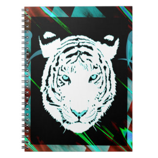 White Bengal Tiger On A Southwest Style Background Note Books