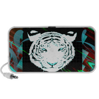 White Bengal Tiger On A Southwest Style Background Mp3 Speakers