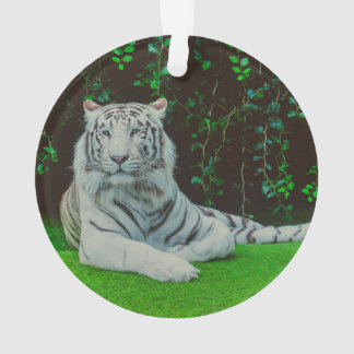 White bengal tiger ornament