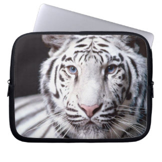 White Bengal Tiger Photography Computer Sleeve