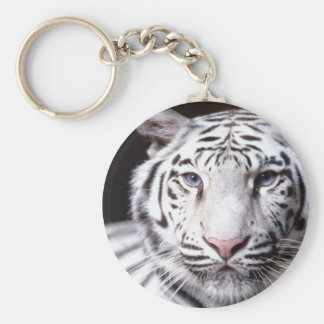 White Bengal Tiger Photography Keychain