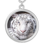 White Bengal Tiger Photography Necklace