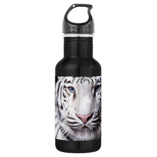 White Bengal Tiger Photography Stainless Steel Water Bottle