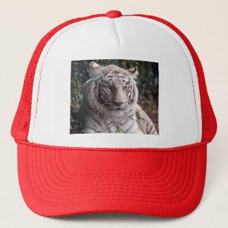 White Bengal Tiger Trucker Hat