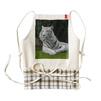 White Bengal Tiger Zazzle HEART Apron