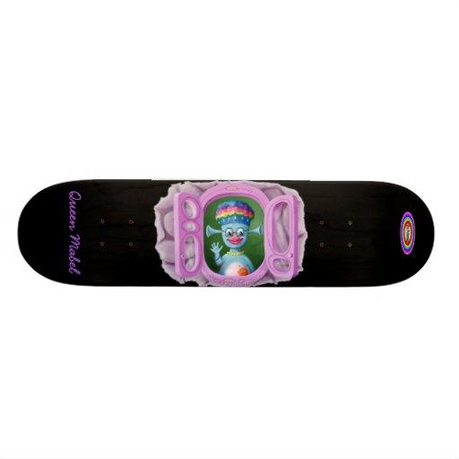 White BG, The Malamites text and Rainbow - Whit... Skateboard Deck
