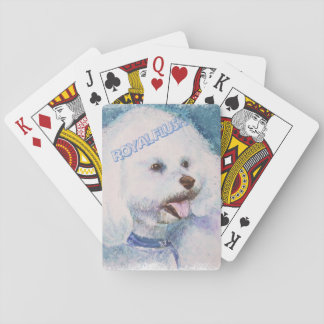 WHITE BICHON FRISE PLAYING CARDS