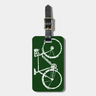 white bicycle bag tags