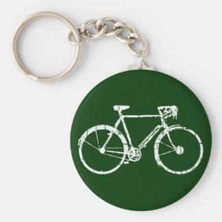 white bicycle keychain