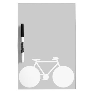 white bicycle modern design dry erase board