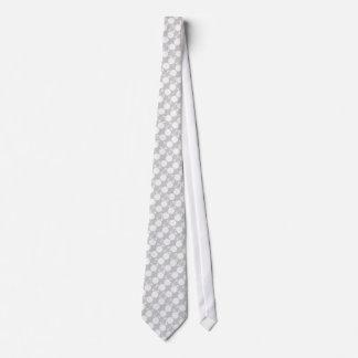 white bicycle modern design neck tie