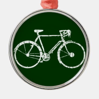 white bicycle ornament