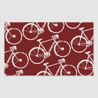 white bicycle rectangular sticker
