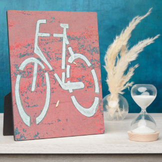 White Bicycle Red Street, Traffic Sign Bicycles Plaque