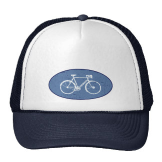 white bicycle trucker hat