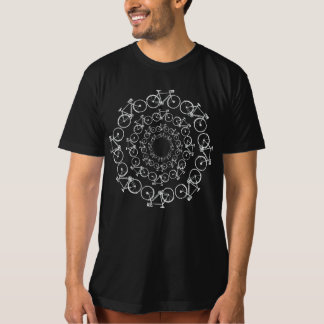 white bicycles in circles T-Shirt