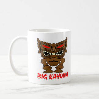 White Big Kahuna Tiki God Coffee Mug