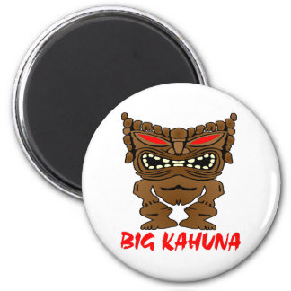 White Big Kahuna Tiki God Magnet