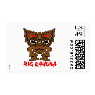 White Big Kahuna Tiki God Postage Stamp