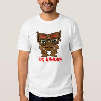 White Big Kahuna Tiki God Tee Shirt